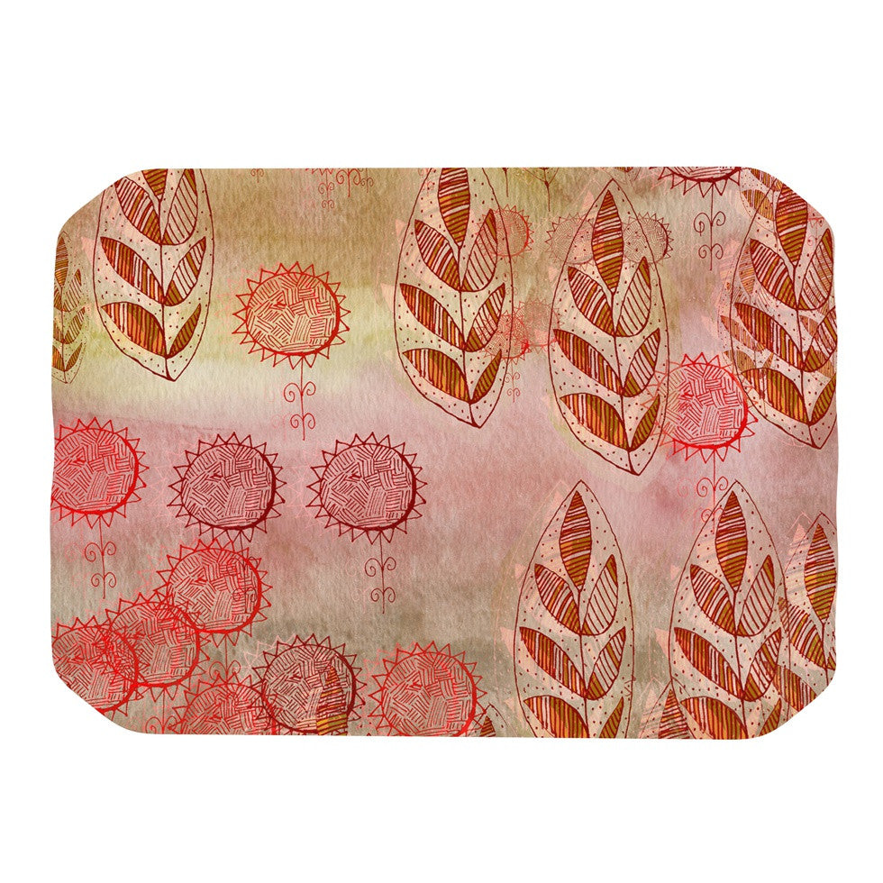 "Marianna Tankelevich ""Summer Music"" Red Orange Place Mat - KESS InHouse"