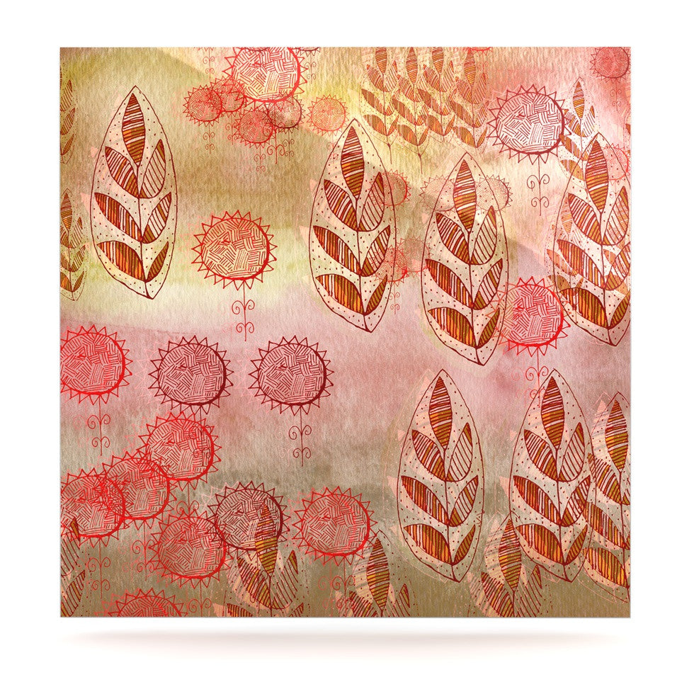 "Marianna Tankelevich ""Summer Music"" Red Orange Luxe Square Panel - KESS InHouse  - 1"