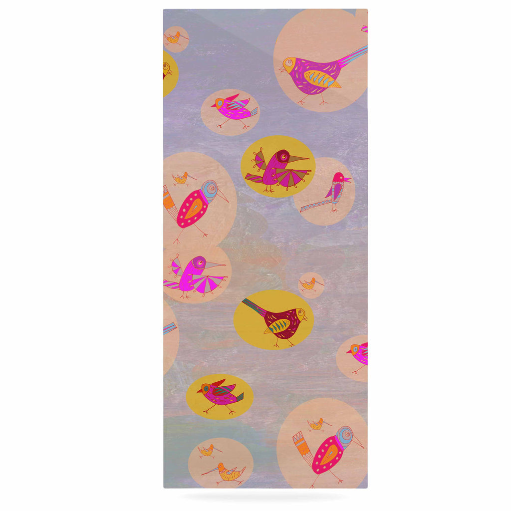 "Marianna Tankelevich ""Birds Paradise"" Pink Abstract Luxe Rectangle Panel - KESS InHouse  - 1"