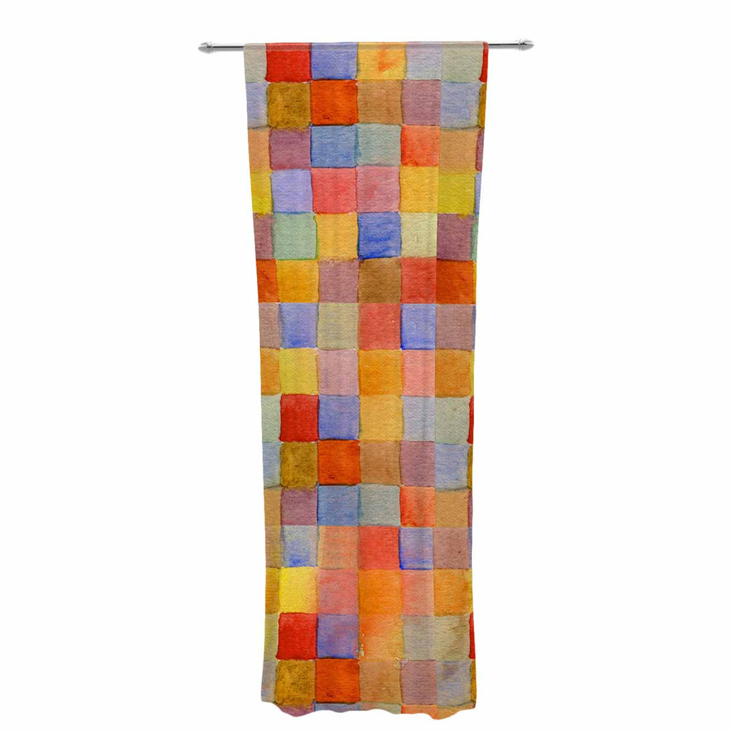 "Marianna Tankelevich ""Rainbow Mozaic"" Multicolor Pattern Decorative Sheer Curtain - KESS InHouse  - 1"