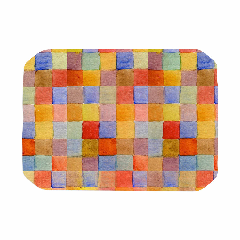 "Marianna Tankelevich ""Rainbow Mozaic"" Multicolor Pattern Place Mat - KESS InHouse"