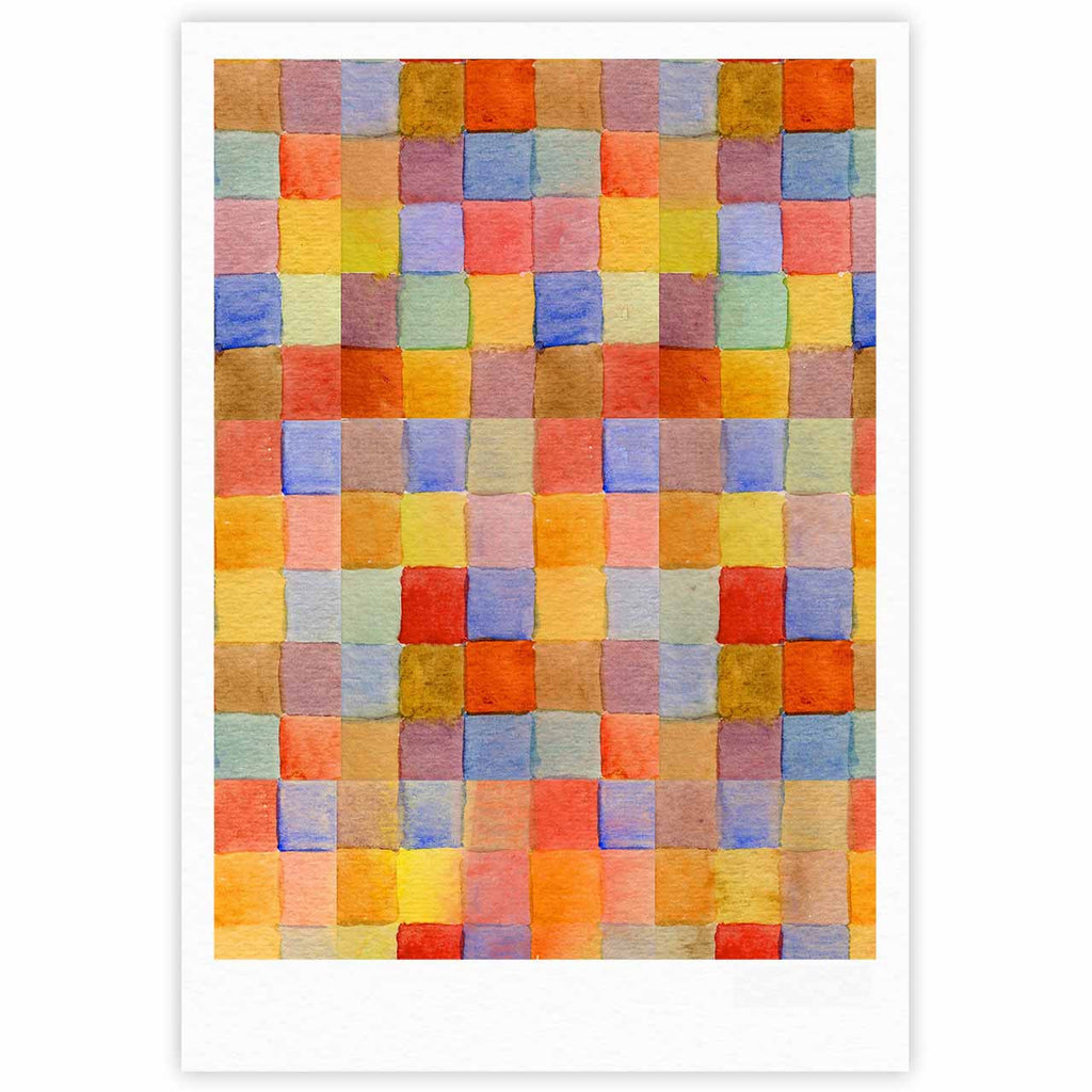 "Marianna Tankelevich ""Rainbow Mozaic"" Multicolor Pattern Fine Art Gallery Print - KESS InHouse"