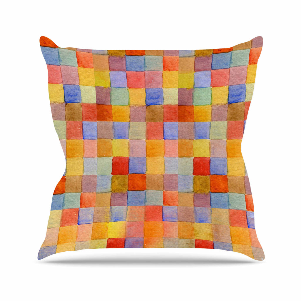 "Marianna Tankelevich ""Rainbow Mozaic"" Multicolor Pattern Throw Pillow - KESS InHouse  - 1"