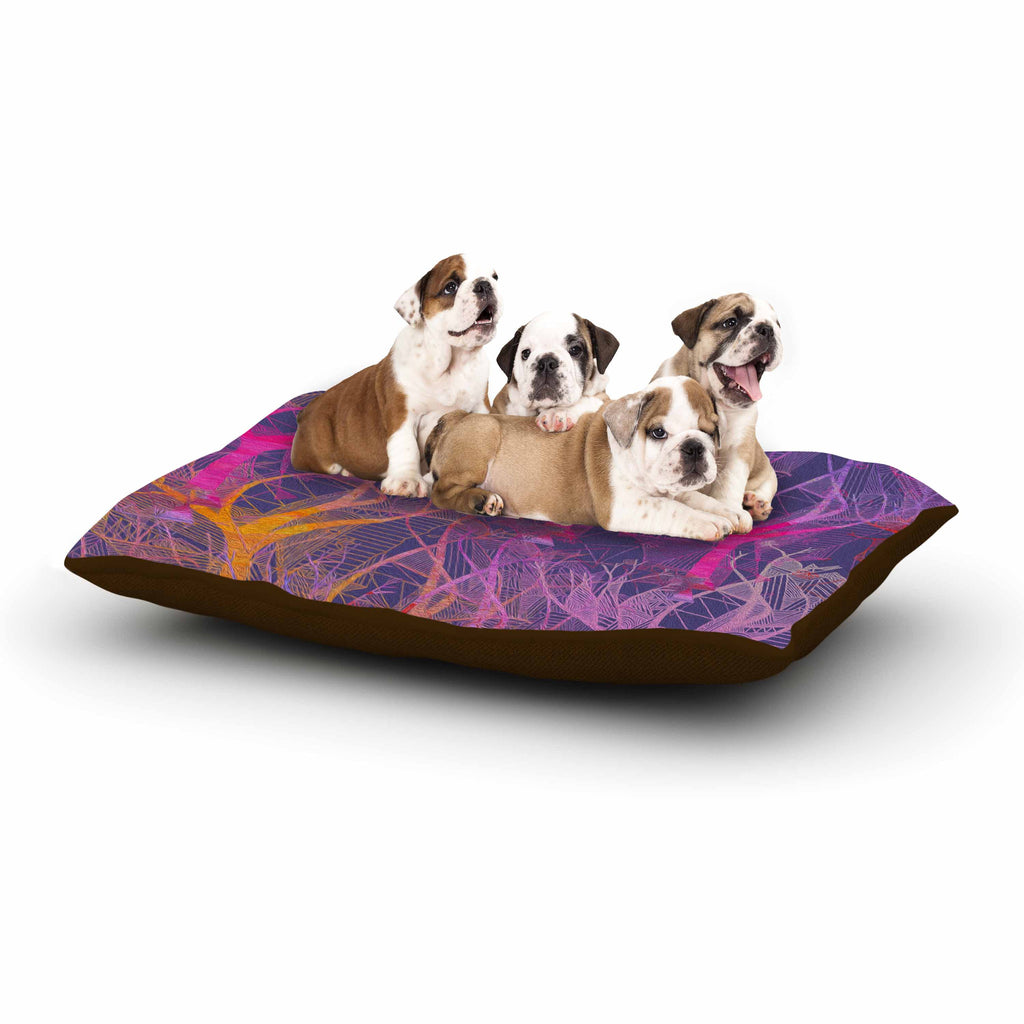 "Marianna Tankelevich ""Colorful Trees "" Purple Abstract Dog Bed - KESS InHouse  - 1"