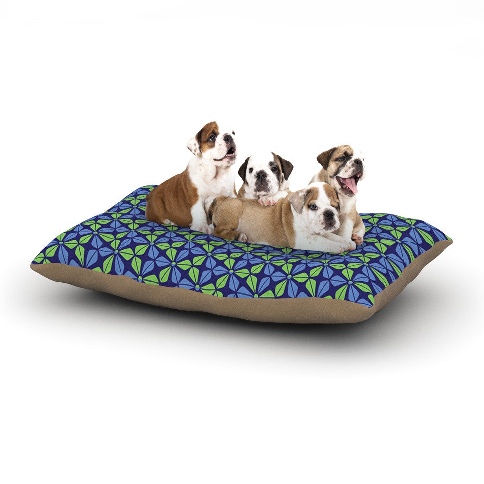"Nick Atkinson ""Infinite Flowers Blue"" Dog Bed - KESS InHouse  - 1"