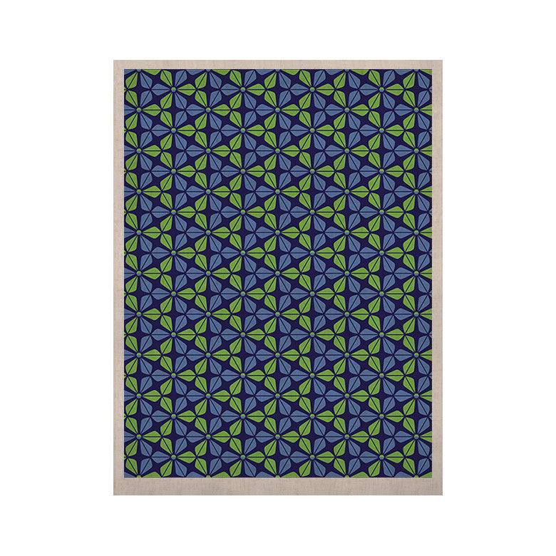 "Nick Atkinson ""Infinite Flowers Blue"" KESS Naturals Canvas (Frame not Included) - KESS InHouse  - 1"
