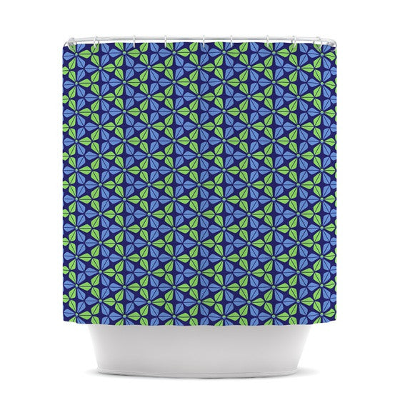 "Nick Atkinson ""Infinite Flowers Blue"" Shower Curtain - KESS InHouse"