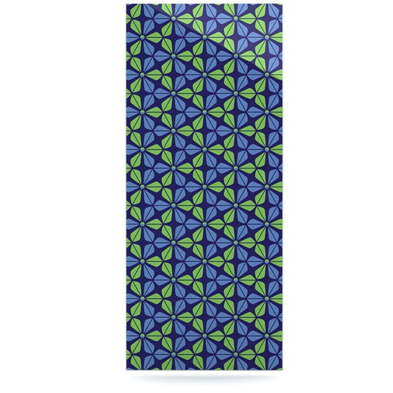 "Nick Atkinson ""Infinite Flowers Blue"" Luxe Rectangle Panel - KESS InHouse"