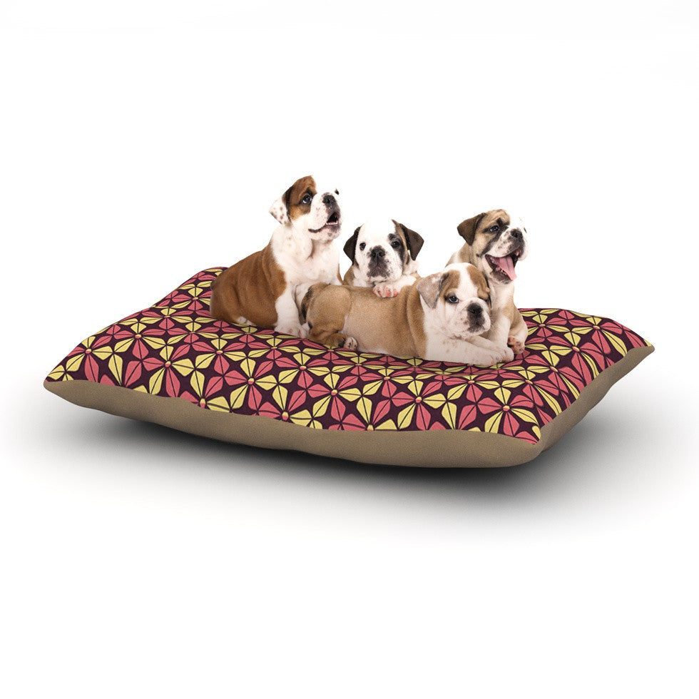 "Nick Atkinson ""Infinite Flowers Red"" Dog Bed - KESS InHouse  - 1"
