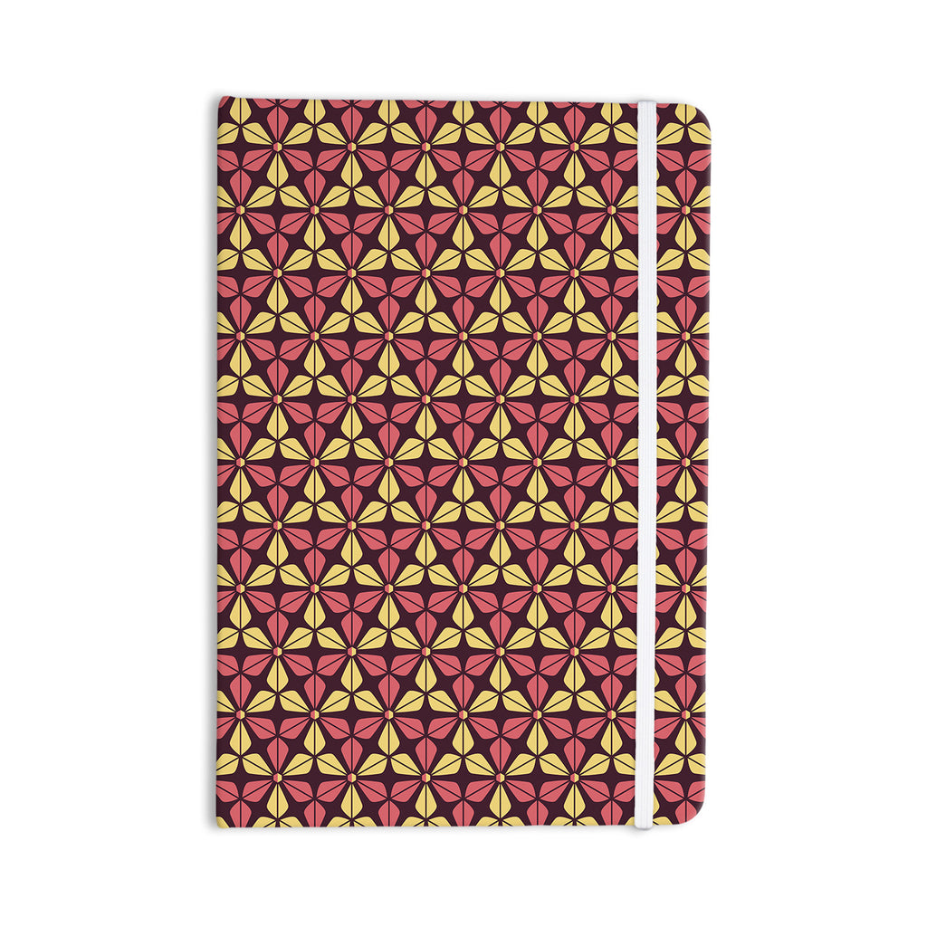 "Nick Atkinson ""Infinite Flowers Red"" Everything Notebook - KESS InHouse  - 1"