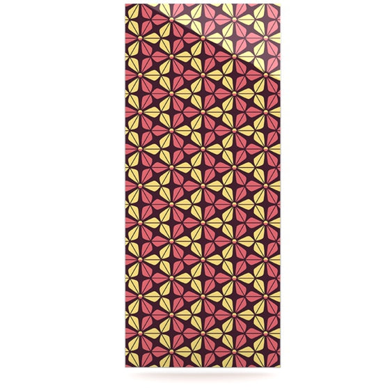"Nick Atkinson ""Infinite Flowers Red"" Luxe Rectangle Panel - KESS InHouse"