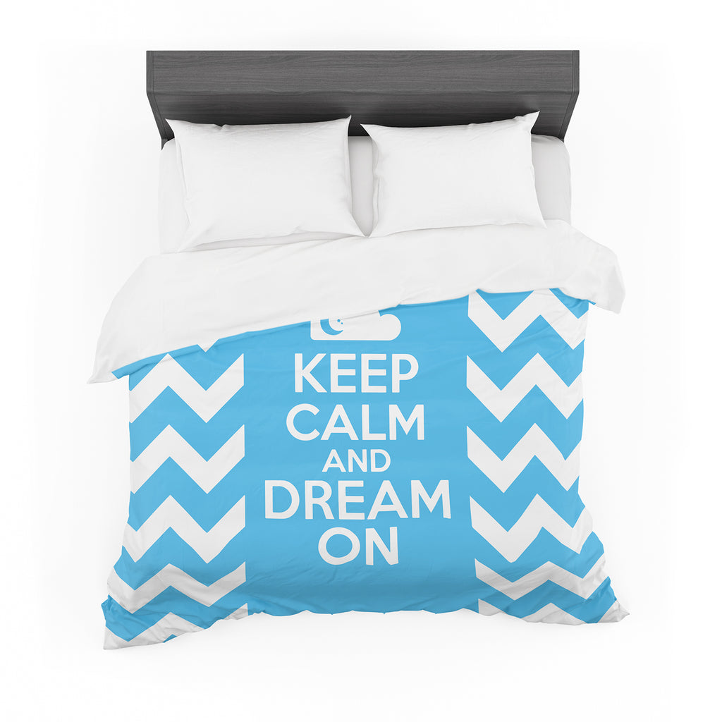 "Nick Atkinson ""Keep Calm"" Cotton Duvet"