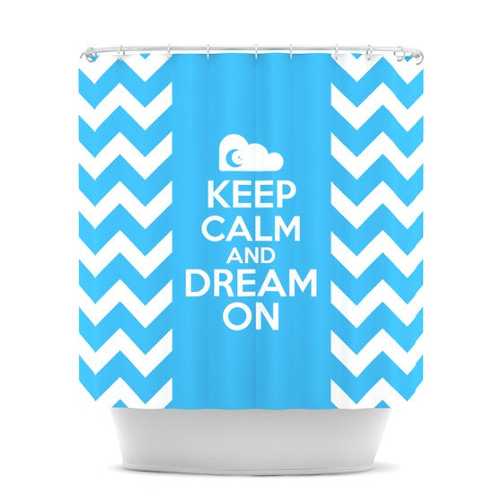 "Nick Atkinson ""Keep Calm"" Shower Curtain - KESS InHouse"