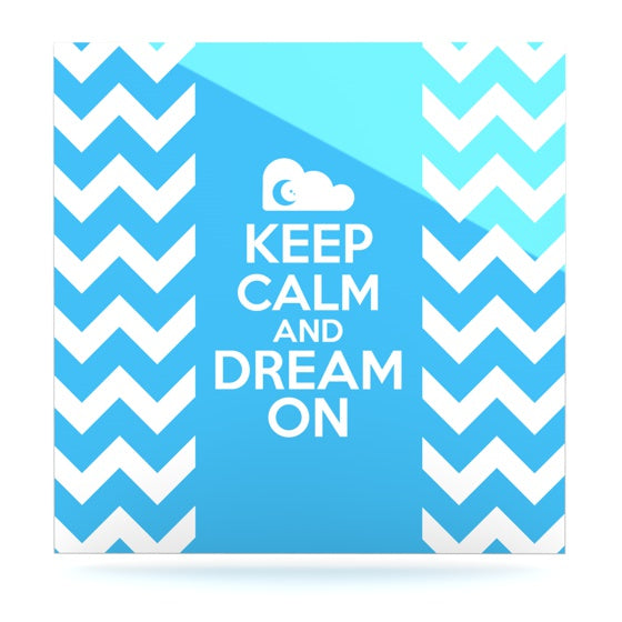 "Nick Atkinson ""Keep Calm"" Luxe Square Panel - KESS InHouse  - 1"