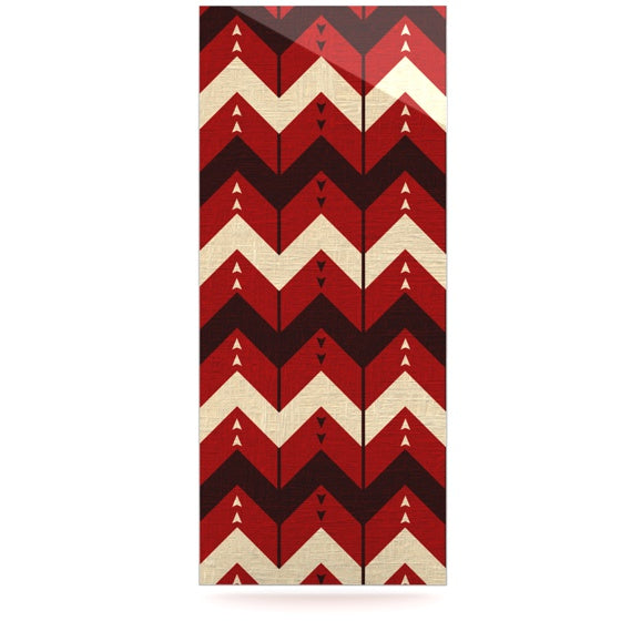 "Nick Atkinson ""Chevron Dance Red"" Luxe Rectangle Panel - KESS InHouse  - 1"