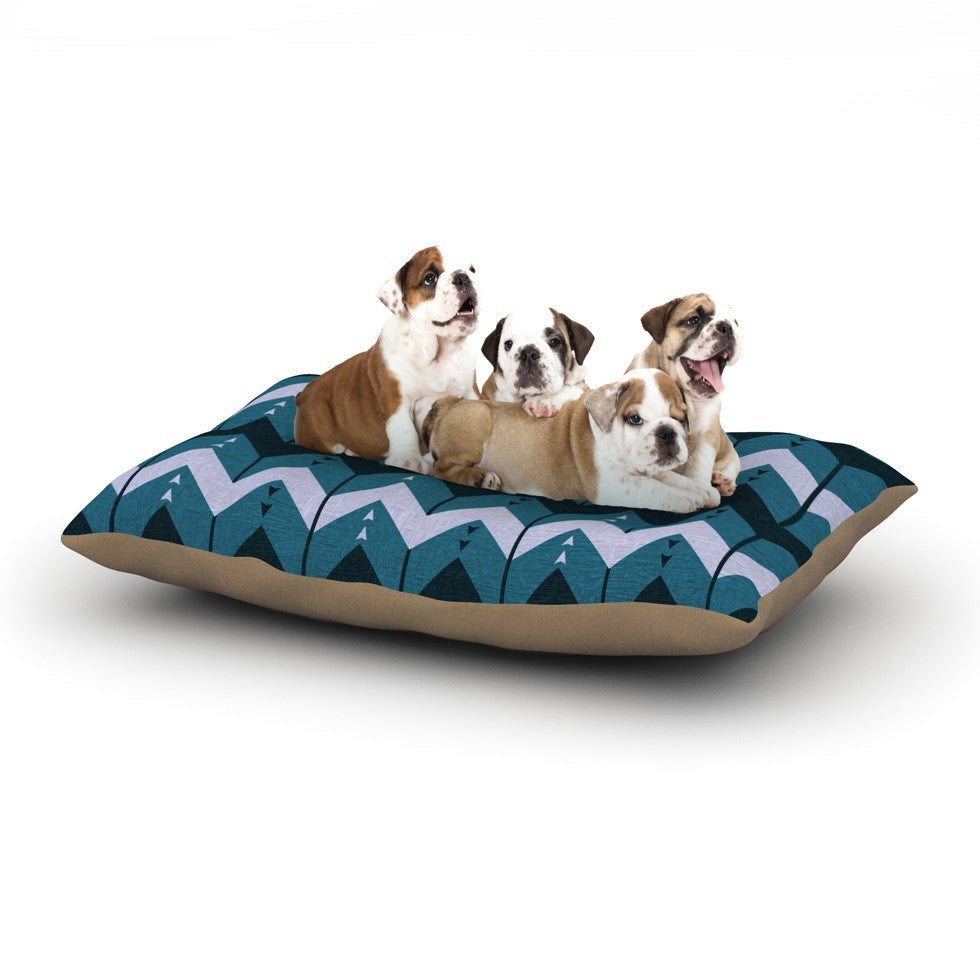 "Nick Atkinson ""Chevron Dance Blue"" Dog Bed - KESS InHouse  - 1"