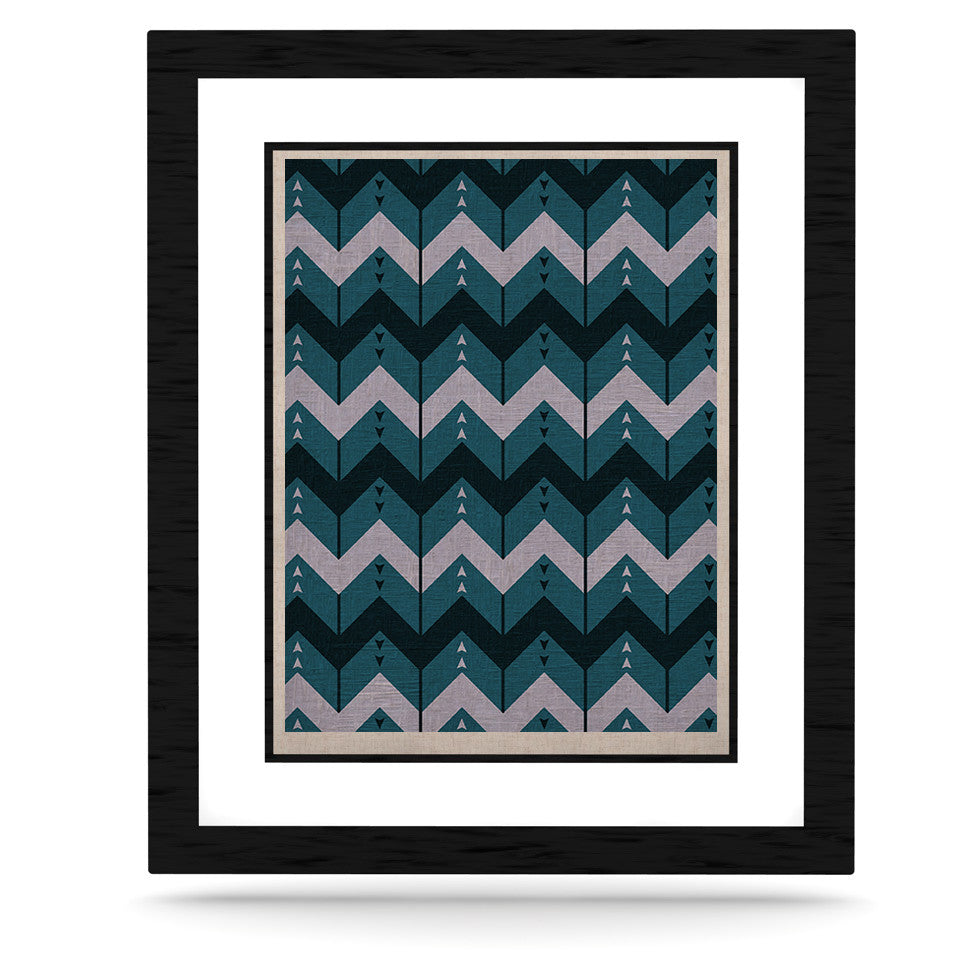 "Nick Atkinson ""Chevron Dance Blue"" KESS Naturals Canvas (Frame not Included) - KESS InHouse  - 1"
