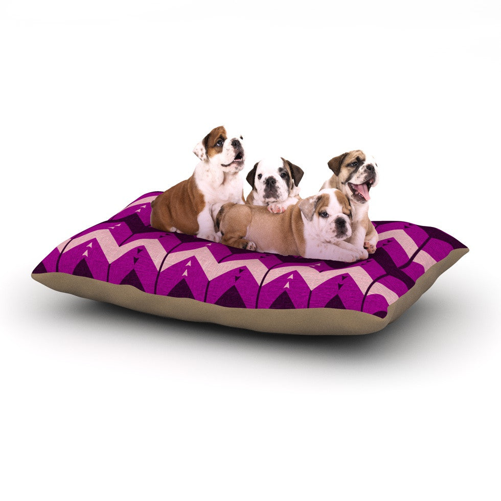 "Nick Atkinson ""Chevron Dance Purple"" Dog Bed - KESS InHouse  - 1"