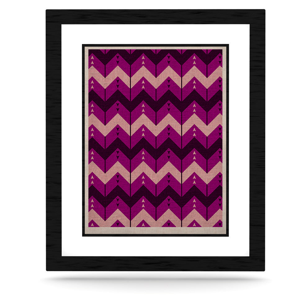 "Nick Atkinson ""Chevron Dance Purple"" KESS Naturals Canvas (Frame not Included) - KESS InHouse  - 1"