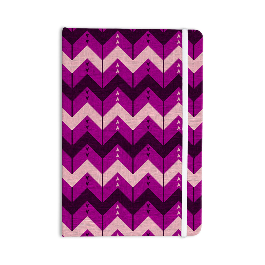 "Nick Atkinson ""Chevron Dance Purple"" Everything Notebook - KESS InHouse  - 1"