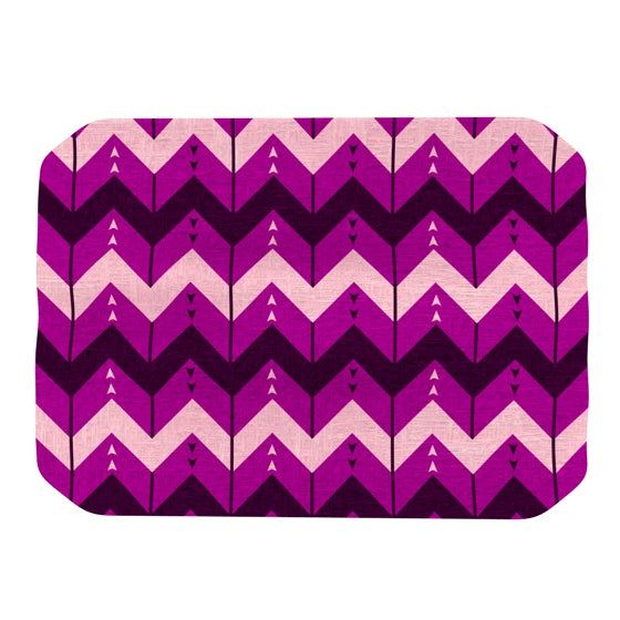 "Nick Atkinson ""Chevron Dance Purple"" Place Mat - KESS InHouse"