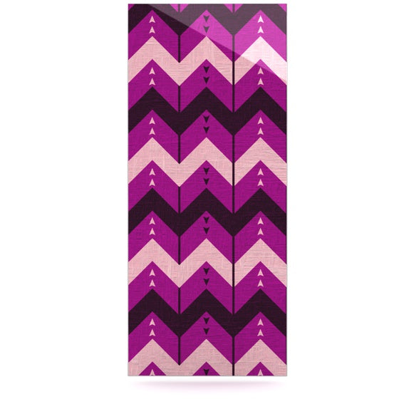 "Nick Atkinson ""Chevron Dance Purple"" Luxe Rectangle Panel - KESS InHouse  - 1"