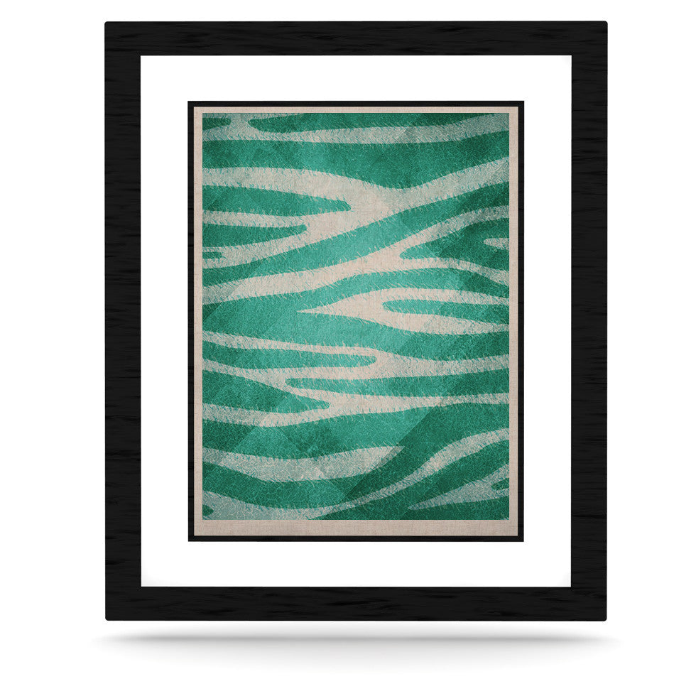 "Nick Atkinson ""Blue Zebra Print Texture"" KESS Naturals Canvas (Frame not Included) - KESS InHouse  - 1"
