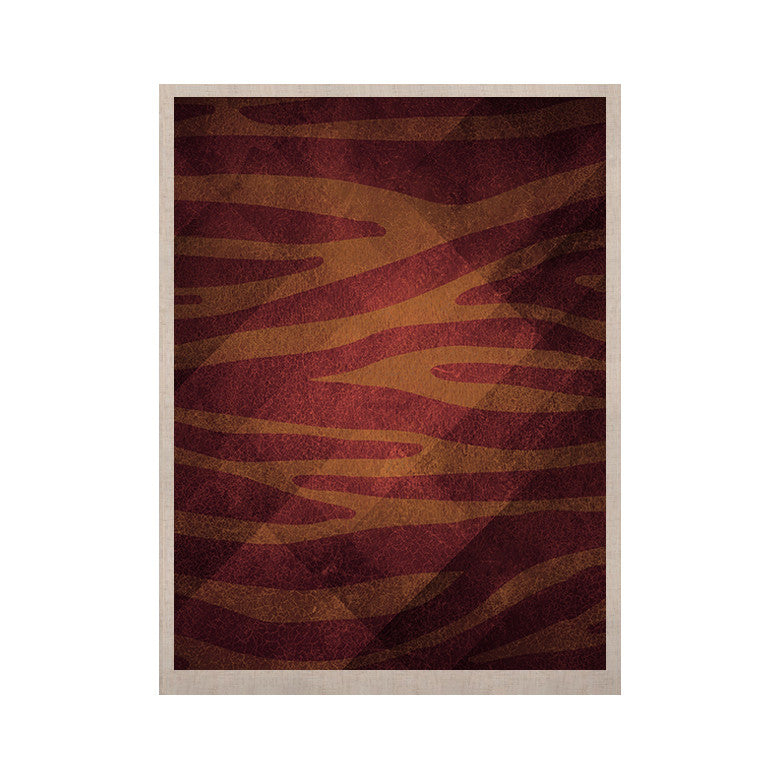 "Nick Atkinson ""Red Zebra Texture"" KESS Naturals Canvas (Frame not Included) - KESS InHouse  - 1"