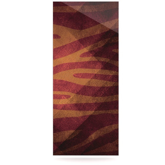 "Nick Atkinson ""Red Zebra Texture"" Luxe Rectangle Metal Art - KESS InHouse  - 1"