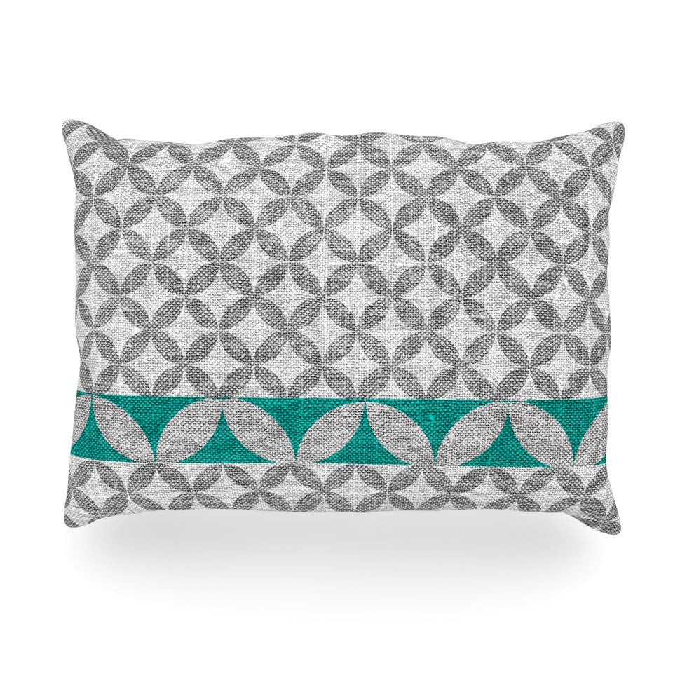 "Nick Atkinson ""Diamond Turquoise"" Oblong Pillow - KESS InHouse"