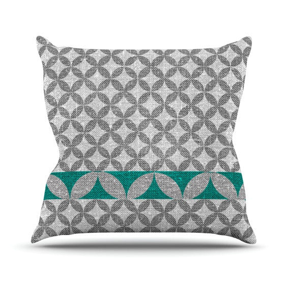 "Nick Atkinson ""Diamond Turquoise"" Throw Pillow - KESS InHouse  - 1"