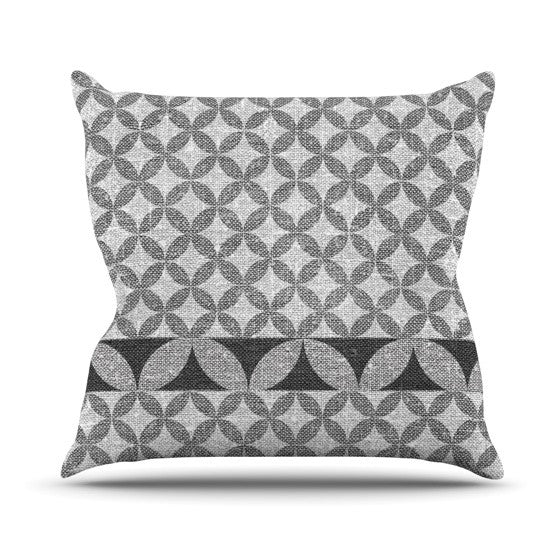 "Nick Atkinson ""Diamond Black"" Throw Pillow - KESS InHouse  - 1"