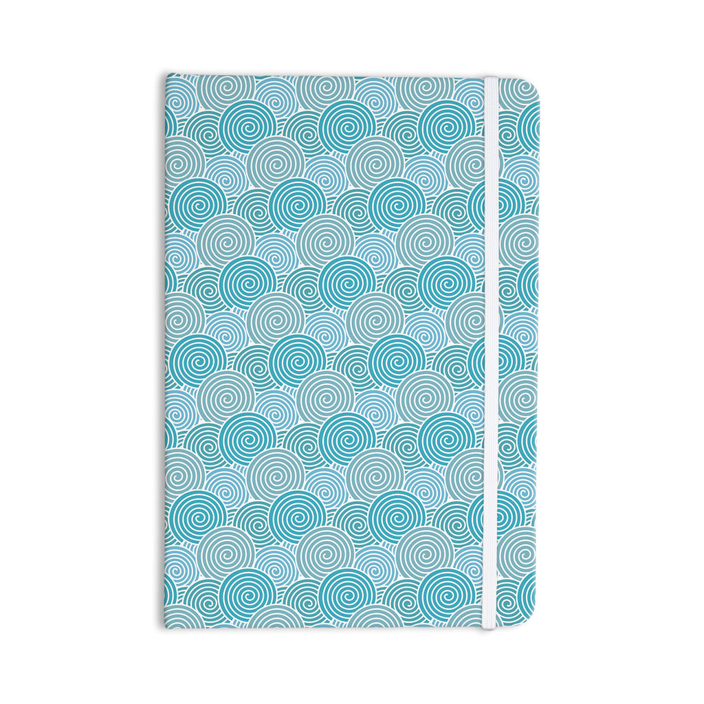 "Nick Atkinson ""Ocean Swirl"" Teal Green Everything Notebook - KESS InHouse  - 1"