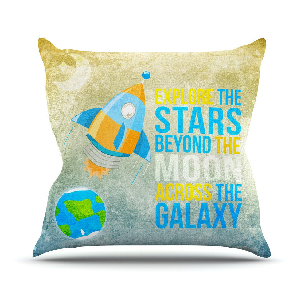 "Nick Atkinson ""Explore the stars"" Outdoor Throw Pillow - KESS InHouse  - 1"