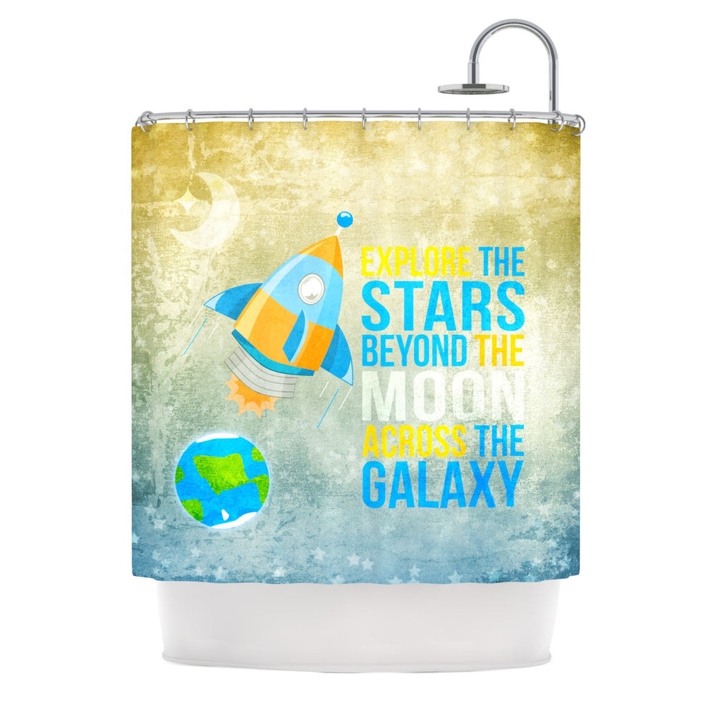 "Nick Atkinson ""Explore the stars"" Shower Curtain - KESS InHouse"