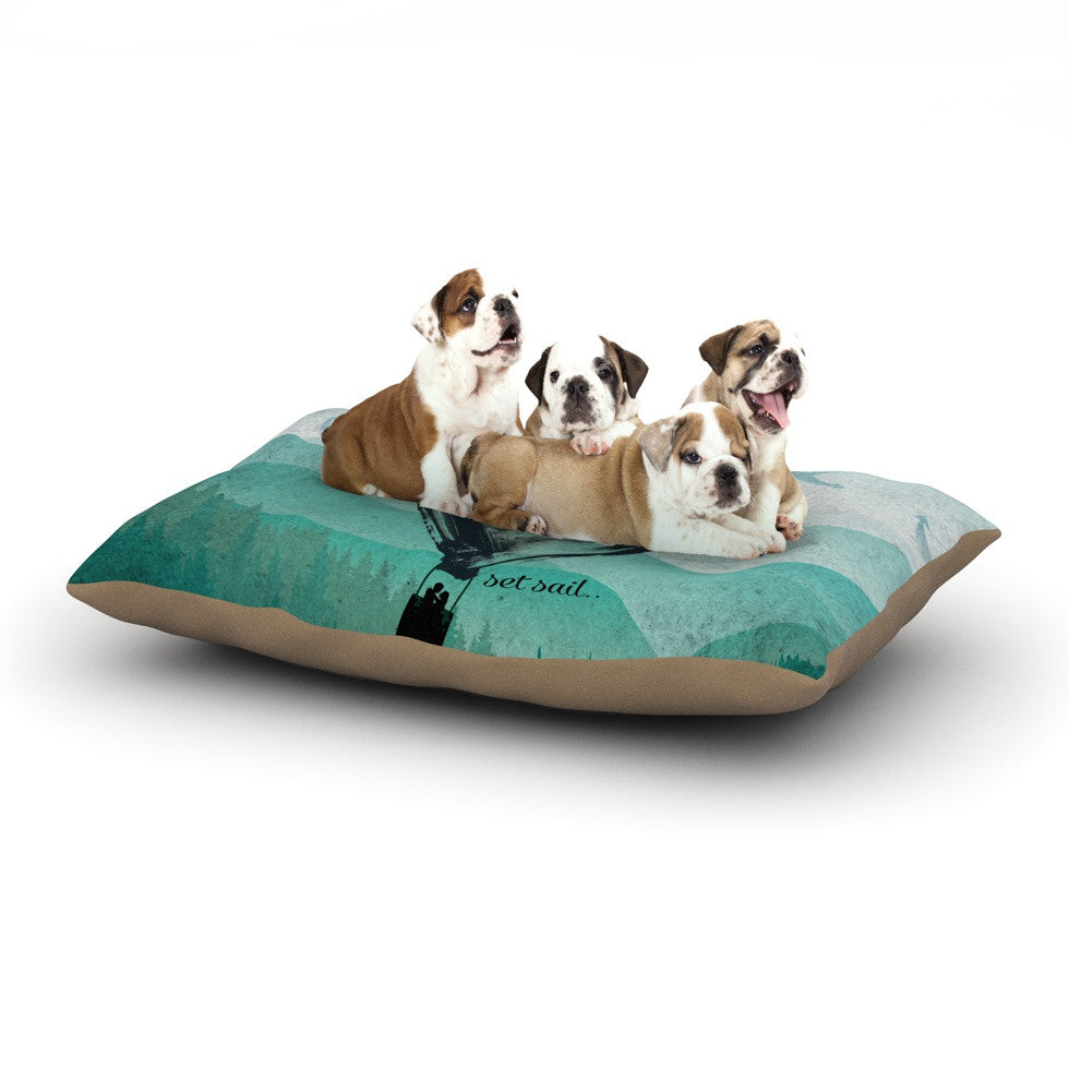 "Nick Atkinson ""Heart Set Sail""  Dog Bed - KESS InHouse  - 1"