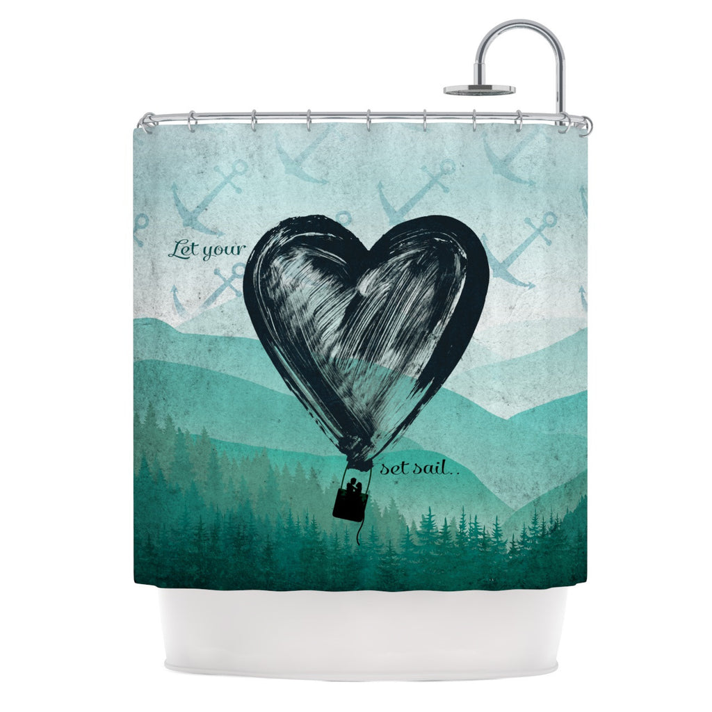 "Nick Atkinson ""Heart Set Sail""  Shower Curtain - KESS InHouse"