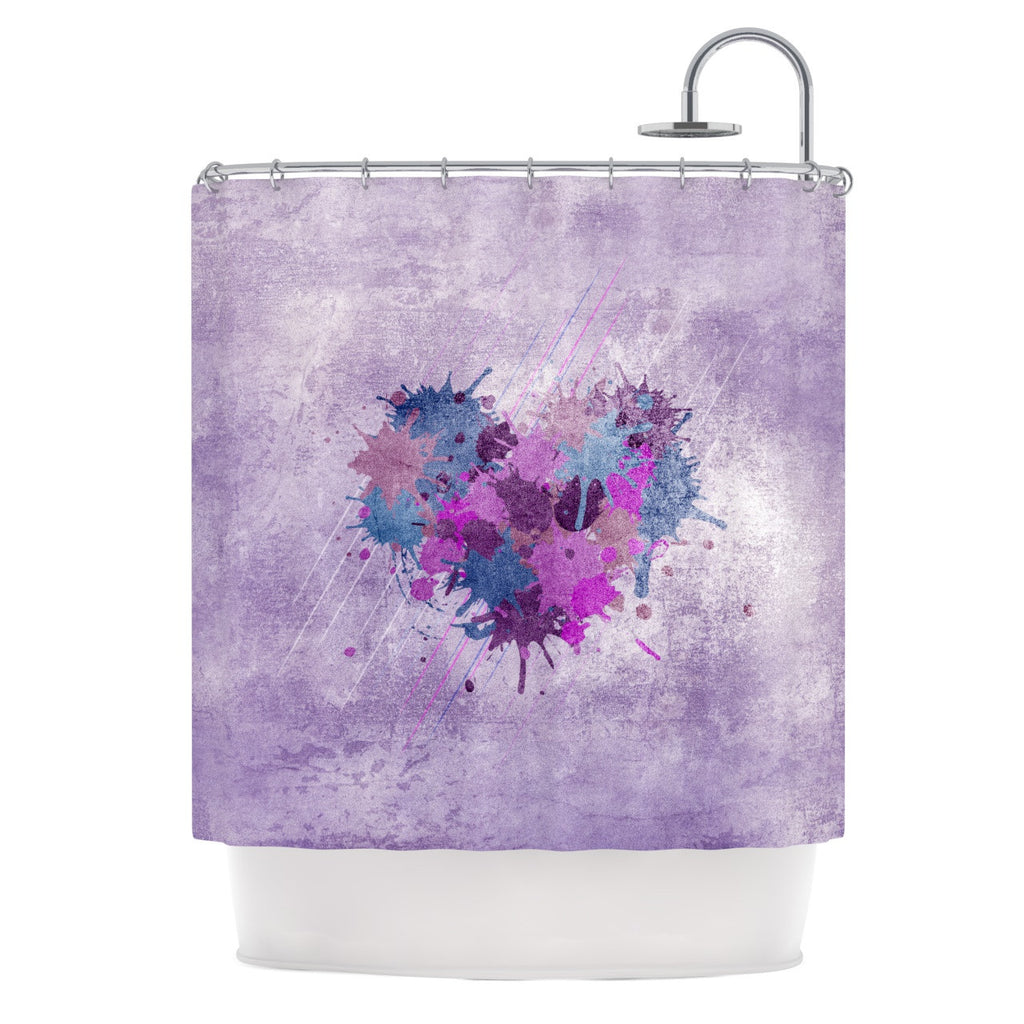 "Nick Atkinson ""Painted Heart""  Shower Curtain - KESS InHouse"