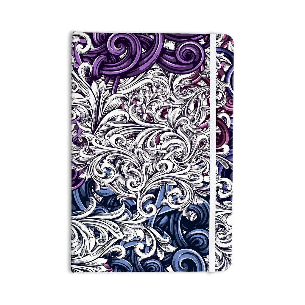 "Nick Atkinson ""Celtic Floral I"" Purple Abstract Everything Notebook - KESS InHouse  - 1"