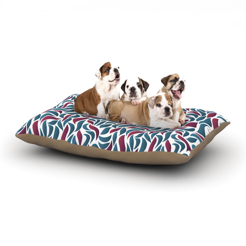 "Nick Atkinson ""Collide"" Teal Maroon Dog Bed - KESS InHouse  - 1"