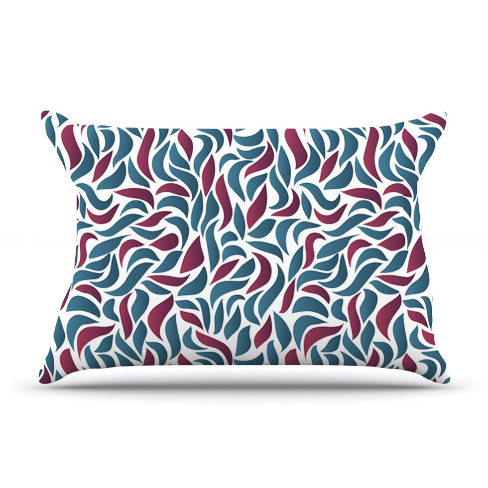 "Nick Atkinson ""Collide"" Teal Maroon Pillow Sham - KESS InHouse"