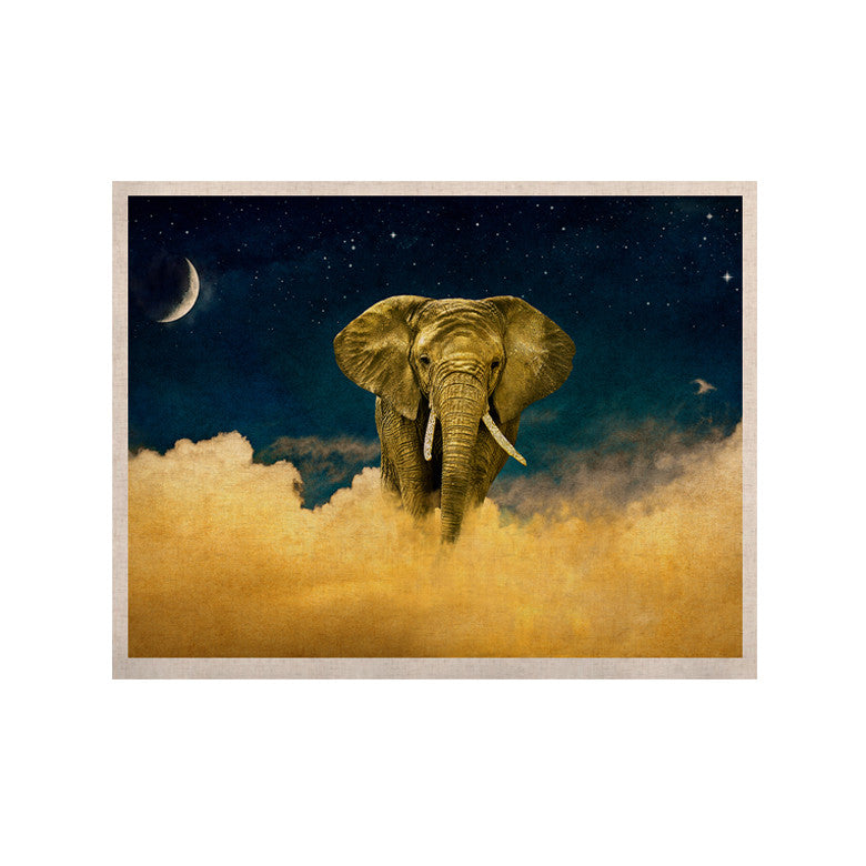 "Nick Atkinson ""Celestial Elephant"" Black Blue KESS Naturals Canvas (Frame not Included) - KESS InHouse  - 1"