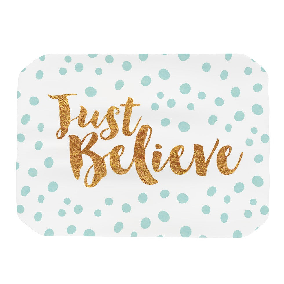 "Nick Atkinson ""Just Believe"" White Gold Place Mat - KESS InHouse"