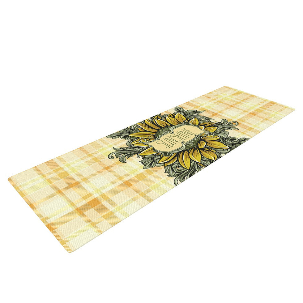 "Nick Atkinson ""Sunflower Sunshine"" Yellow Gold Yoga Mat - KESS InHouse  - 1"
