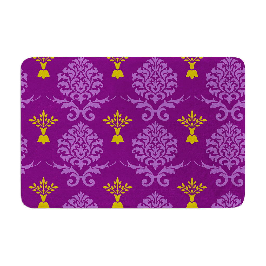 "Nicole Ketchum ""Purple Crowns"" Memory Foam Bath Mat - KESS InHouse"