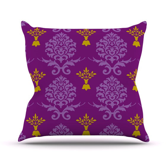 "Nicole Ketchum ""Purple Crowns"" Outdoor Throw Pillow - KESS InHouse  - 1"