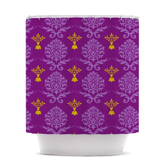 "Nicole Ketchum ""Purple Crowns"" Shower Curtain - KESS InHouse"