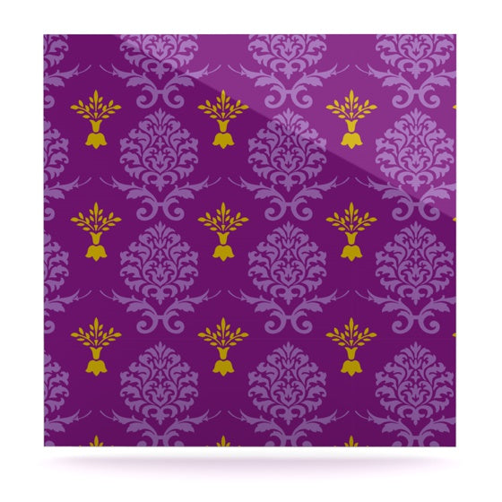 "Nicole Ketchum ""Purple Crowns"" Luxe Square Panel - KESS InHouse  - 1"