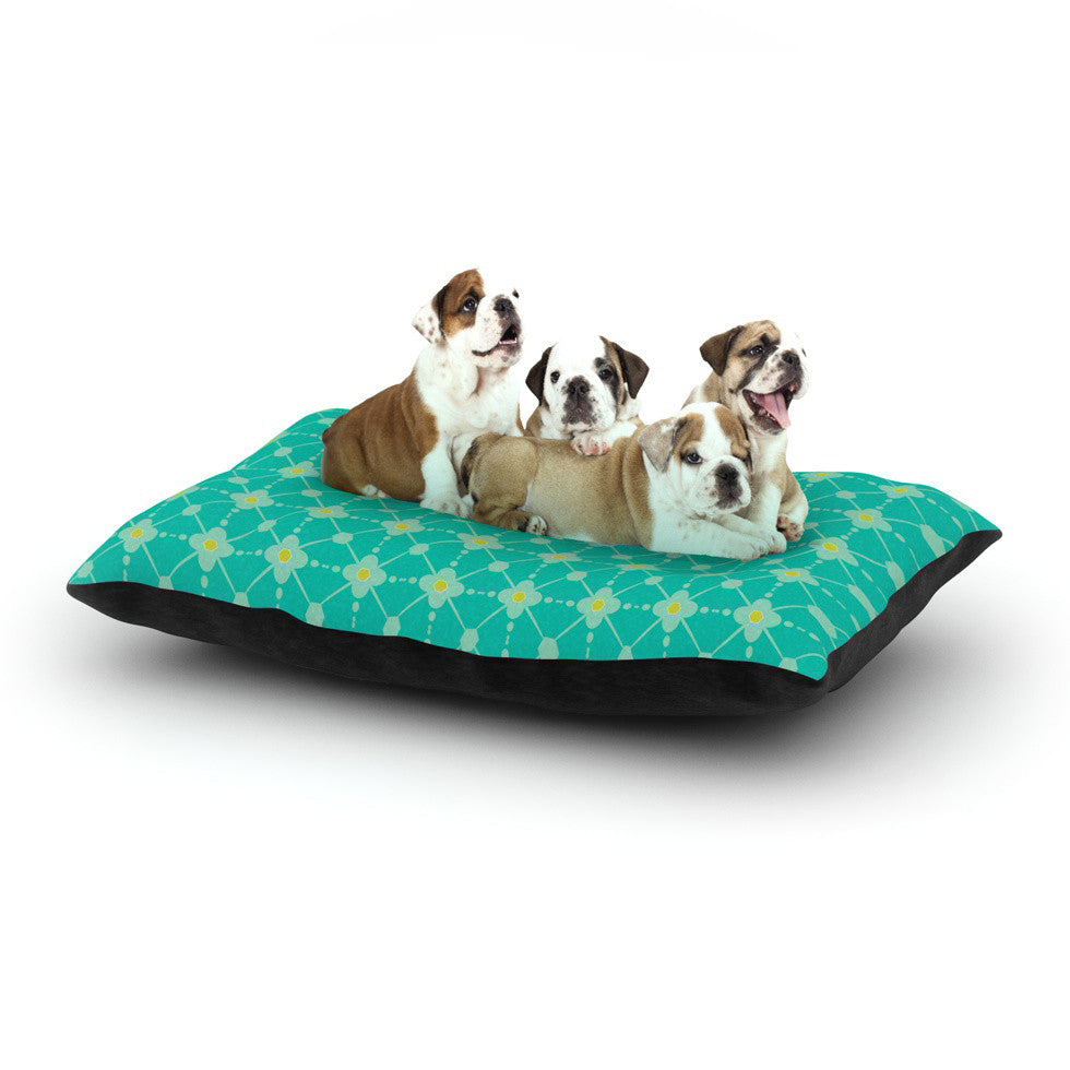 "Nicole Ketchum ""Hive Blooms"" Dog Bed - KESS InHouse  - 1"