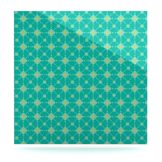 "Nicole Ketchum ""Hive Blooms"" Luxe Square Panel - KESS InHouse  - 1"